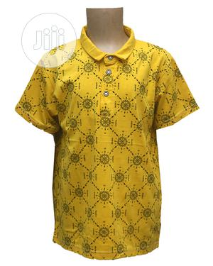 Boys Short Sleeve, Collar Neck Top-Yellow,Sky Blue,Red ,Grey | Children's Clothing for sale in Lagos State, Ojota