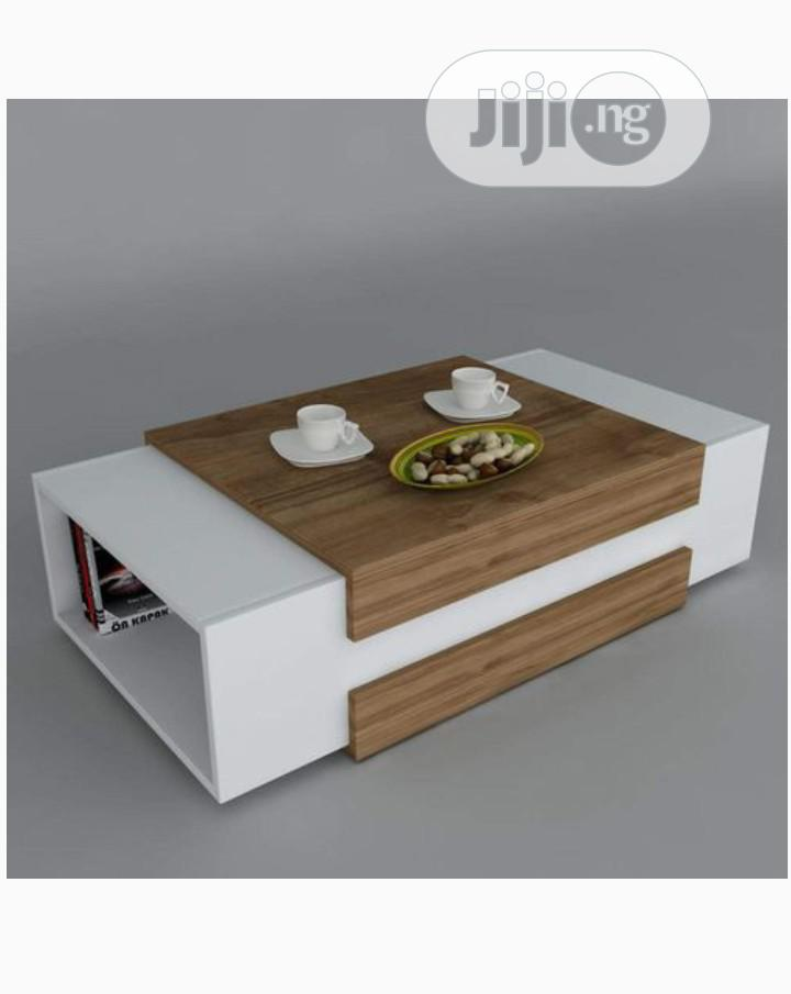 Multipurpose Center Table Coffee Table Chair With Book Shelf | Furniture for sale in Mabushi, Abuja (FCT) State, Nigeria