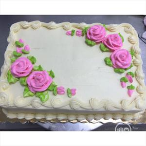 Cream And Pink Chocolate And Strawberry Birthday Cake   Meals & Drinks for sale in Lagos State, Agege