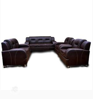 7seater Brown Leather | Furniture for sale in Abuja (FCT) State, Maitama
