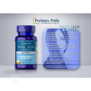 Puritans Pride Hair Skin and Nails With Biotin Strawberry | Vitamins & Supplements for sale in Enugu State, Enugu