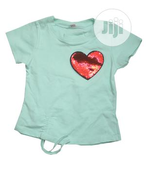Girls Round Neck Top With Short Sleeve-Peach,Red,Yellow,Pink | Children's Clothing for sale in Lagos State, Ojota