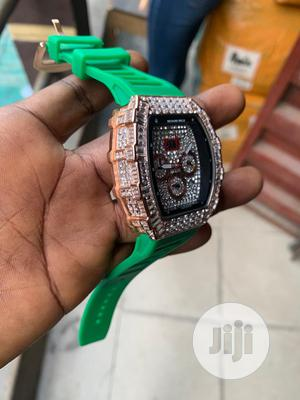 Richard Mille Men's Green Rubber Wristwatch | Watches for sale in Lagos State, Surulere