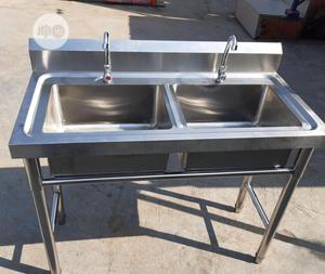 Double Tank Stainless Steel Sink | Restaurant & Catering Equipment for sale in Lagos State, Amuwo-Odofin