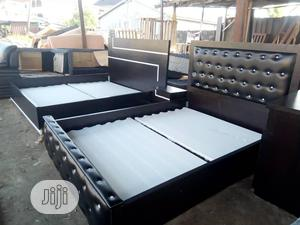 6by6 Padded Bed Frame   Furniture for sale in Lagos State, Agege