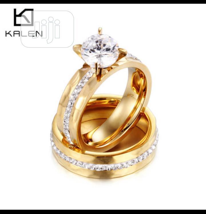 Gold Silver Bridal Wedding Ring