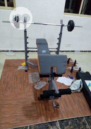Commercial Weight Bench With 50kg Dumbbell | Sports Equipment for sale in Lagos State, Badagry