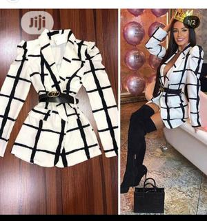 Chic Blazer Jacket With Belt   Clothing for sale in Lagos State, Ikeja