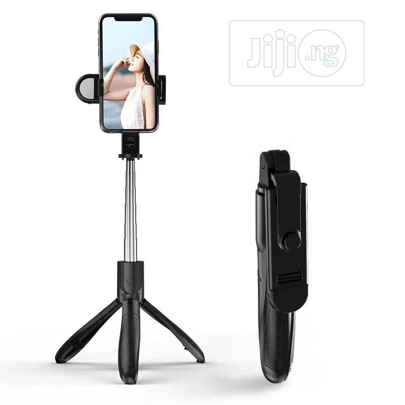 Selfie Stick With Tripod Stand Remote And Flashlight   Accessories for Mobile Phones & Tablets for sale in Ikeja, Lagos State, Nigeria