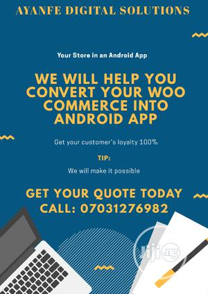 Convert Your Woocommerce Store Into an Android Mobile App   Computer & IT Services for sale in Lagos State, Lagos Island (Eko)