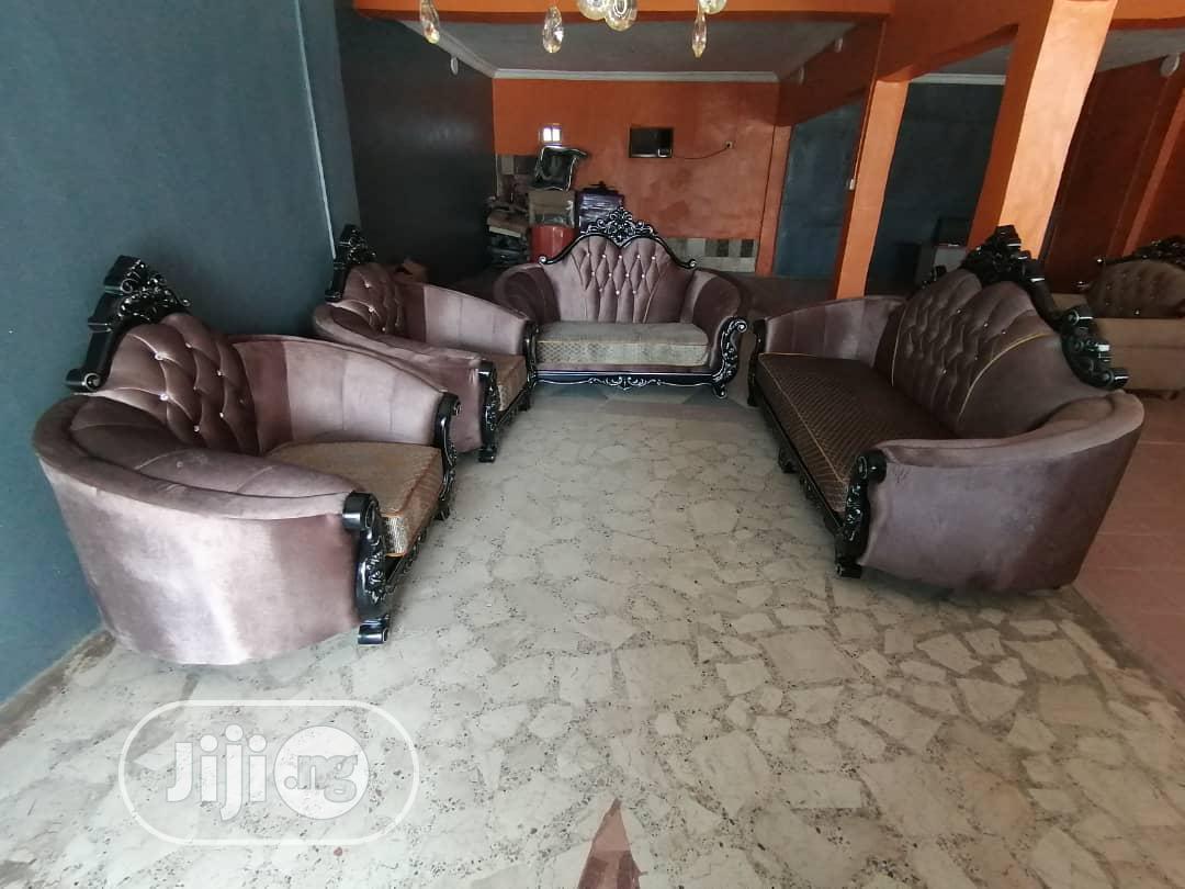 Coffee Brown 7 Seaters Sofa