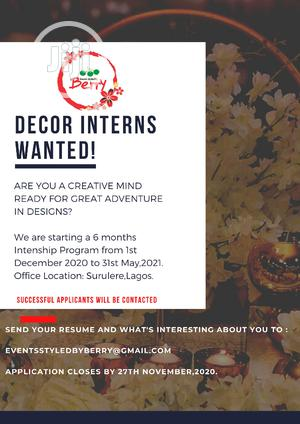 Event Decoration Internship   Recruitment Services for sale in Lagos State, Surulere