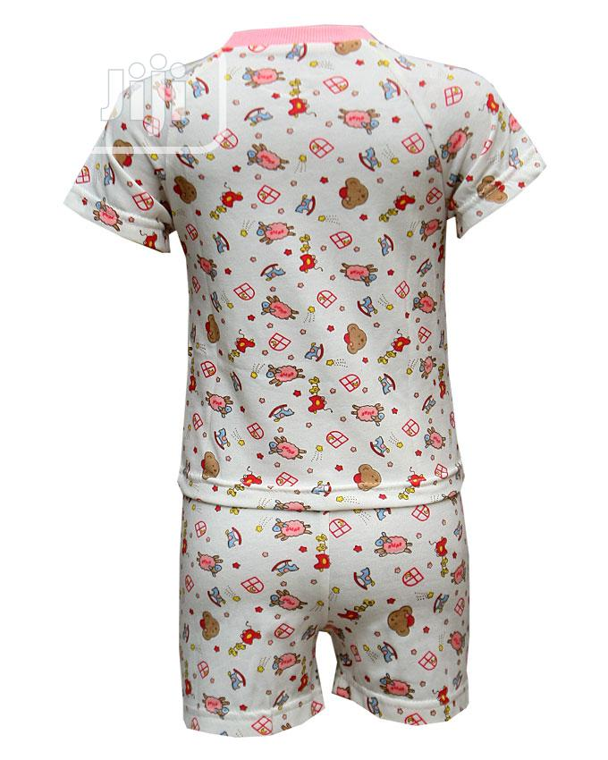 Baby Unisex Two Pcs of Top and Pants -Cream and Multi | Children's Clothing for sale in Ojota, Lagos State, Nigeria