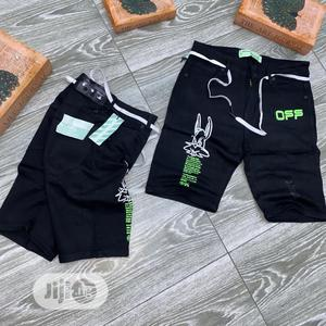 Original Off White Palm Angel Shorts Jeans   Clothing for sale in Lagos State, Lagos Island (Eko)
