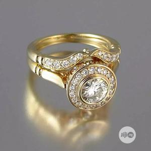 2pc Gold Engagement Wedding Ring Set | Wedding Wear & Accessories for sale in Lagos State, Surulere
