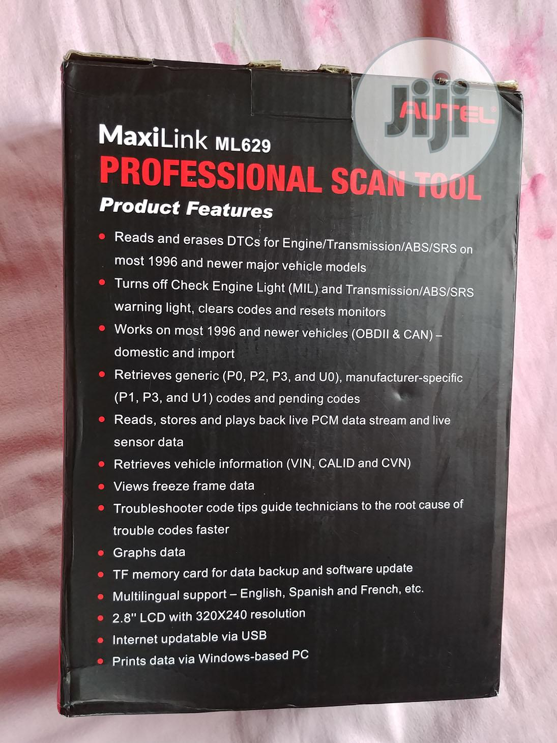 Autel Maxilink ML629 Vehicle OBD Scanner | Vehicle Parts & Accessories for sale in Kubwa, Abuja (FCT) State, Nigeria