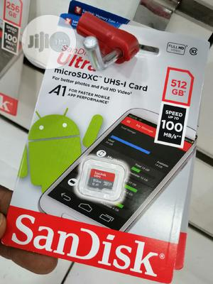 Sandisk Ultra 512gb Micro SD Card 100mbps | Accessories for Mobile Phones & Tablets for sale in Lagos State, Ikeja