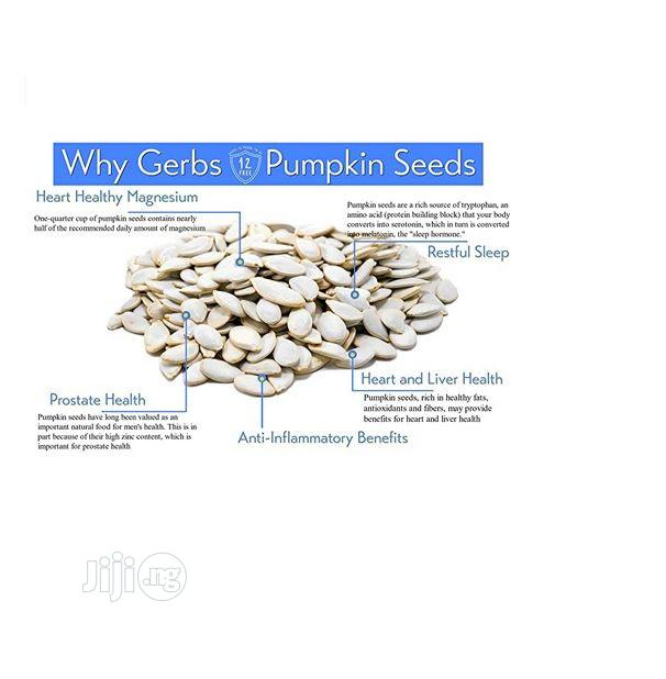 GERBS Raw Whole Pumpkin Seeds, 32 Oz   Feeds, Supplements & Seeds for sale in Amuwo-Odofin, Lagos State, Nigeria