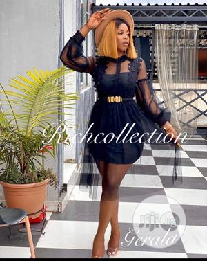 Quality Female Fitted Long Sleeveshort Gown | Clothing for sale in Lagos State, Ikeja
