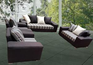 Set of 7 Seaters Sofa Chairs With Pillows. Fabric Couch   Furniture for sale in Lagos State, Agege