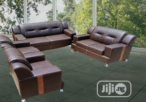 Complete Set of 7seater Sofa Chairs. Leather Couch   Furniture for sale in Lagos State, Agege