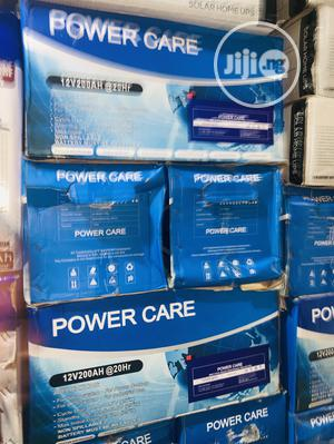 200ah 12volts Power Care Battery Available | Solar Energy for sale in Lagos State, Ojo