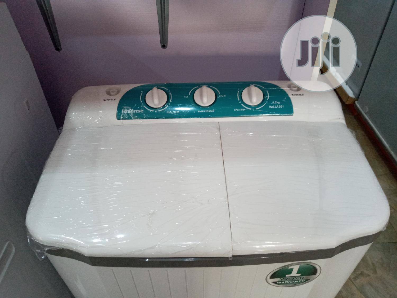 Hisense Twin Tub Washing Machine 5kg | Home Appliances for sale in Ibadan, Oyo State, Nigeria