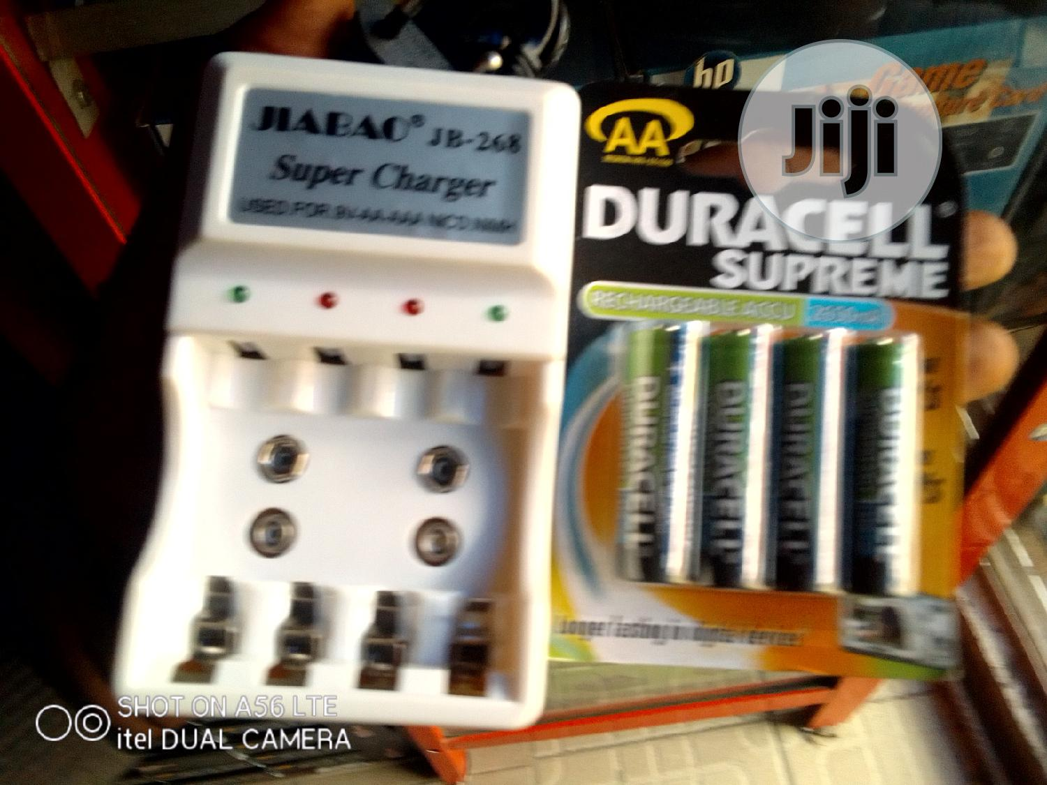 AA Duracell Rechargeable Battery + Charger | Accessories & Supplies for Electronics for sale in Ikeja, Lagos State, Nigeria