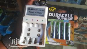 AA Duracell Rechargeable Battery + Charger | Accessories & Supplies for Electronics for sale in Lagos State, Ikeja