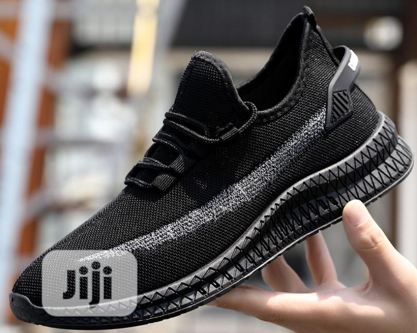 Men Sneakers Shoes - Black   Shoes for sale in Ojodu, Lagos State, Nigeria