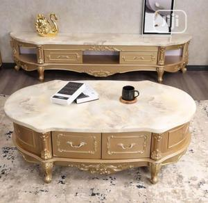 Quality Royal Mable Top Tv Console and Center Table   Furniture for sale in Lagos State, Lekki