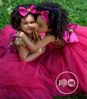 Pink Gold Kids Dress Size 3-4 Slay Network Draw   Children's Clothing for sale in Lagos State, Lekki