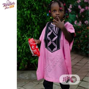 -Girls Baby Pink Agbada With Embroidery   Children's Clothing for sale in Lagos State, Ojodu