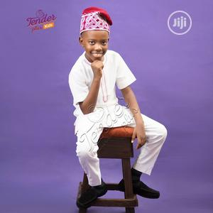 Boys White Native With Red Embroidery And Ijebu Cap | Children's Clothing for sale in Lagos State, Ojodu