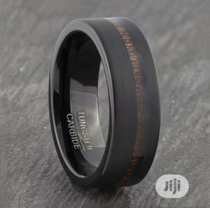 Willams Tungsten Carbide Ring With Wood Inlay. | Wedding Wear & Accessories for sale in Delta State, Warri