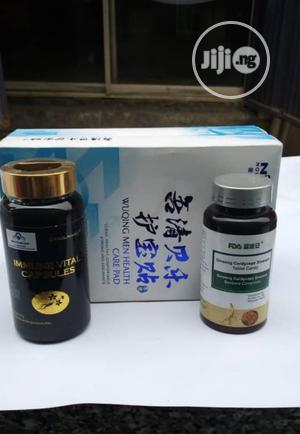 Combine 3 Products, Male Pad, Ginseng, Immune Vital Capsule   Vitamins & Supplements for sale in Oyo State, Ibadan