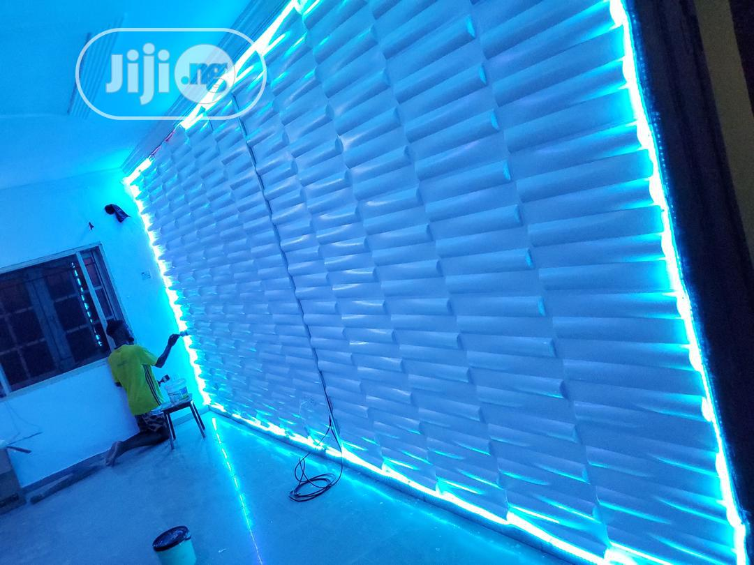 3D Wall Panels With Lightening