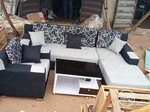 Modern L- Shaped Sofa With One Single and Center Table | Furniture for sale in Lagos State, Ojodu