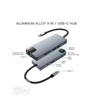 USB C Docking Station,ESTONE 9-in-1 USB C Hub To 4k HDMI   Computer Accessories  for sale in Lagos State, Ikeja