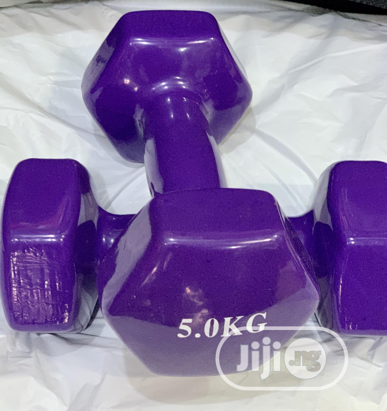 Vinyl Dumbells 1kg -6kg | Sports Equipment for sale in Gwarinpa, Abuja (FCT) State, Nigeria