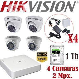 Hikvision 4 Channel DVR Combo With 4 Cameras Source Cables A | Security & Surveillance for sale in Lagos State, Ikeja