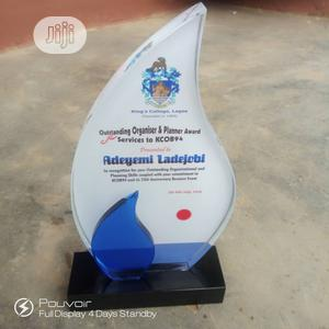 High-quality Color Printing Crystal Award Glass Trophy   Manufacturing Services for sale in Lagos State, Ikeja