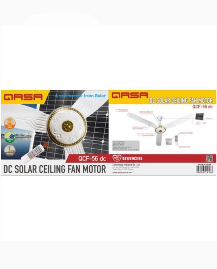 Qasa Solar Ceiling Fan AC/DC