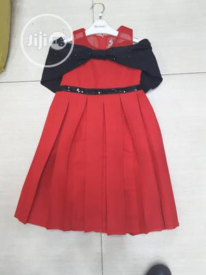 Girl Black/ Red Occasion Dress   Children's Clothing for sale in Lagos State, Yaba