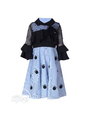 Girl 2 Piece Blue/ Black Occasion Dress   Children's Clothing for sale in Lagos State, Yaba