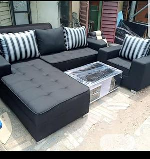 Modern L Shape With Single Center Table | Furniture for sale in Lagos State, Surulere