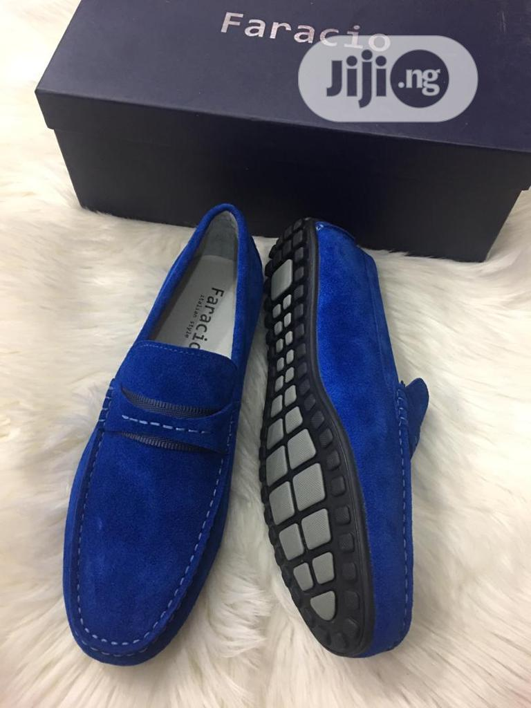Faracio Blue Suede Shoes   Shoes for sale in Lagos Island (Eko), Lagos State, Nigeria