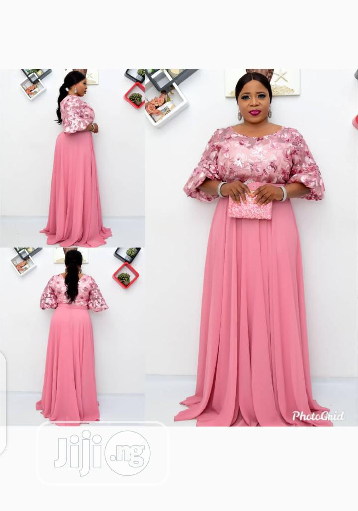 New Female Turkey Pink Long Gown | Clothing for sale in Isolo, Lagos State, Nigeria