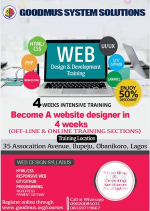 Website Design Training and Services   Computer & IT Services for sale in Lagos State, Shomolu