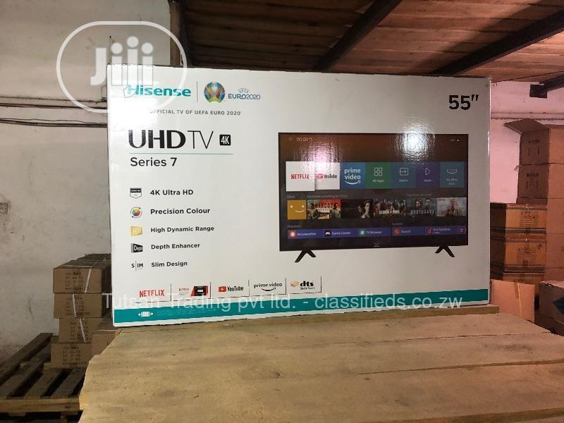 Hisense 55'' 4K Uhd Smart LED Tv(Latest Design) +Bracket